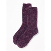 Boucle-Knit Crew Socks for Women
