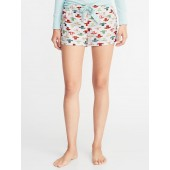 Patterned Flannel Boxers for Women - 2.5 inch inseam