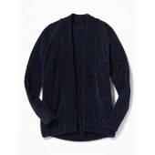 Chenille Cocoon Cardi for Girls