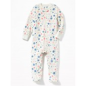 Snowflake Micro Fleece Footed Sleeper for Toddler & Baby