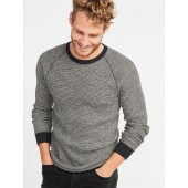 Chunky-Textured Thermal-Knit Tee for Men