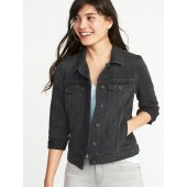 Black Denim Jacket for Women