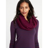 Rib-Knit Infinity Scarf for Women