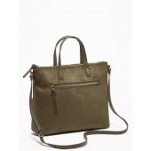 Faux-Suede Crossbody Bag for Women