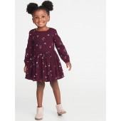 Fit & Flare Floral Dress for Toddler Girls
