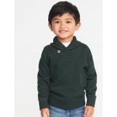 French-Rib Shawl-Collar Pullover for Toddler Boys