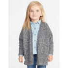 Open-Front Cocoon Sweater for Toddler Girls
