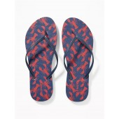 Patterned Flip-Flops for Women