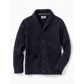 Sweater-Knit Button-Front Cardigan for Boys