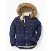 Frost-Free Puffer Jacket for Girls