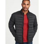Water-Resistant Packable Quilted Jacket for Men