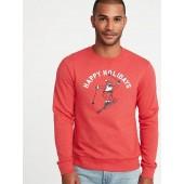Holiday-Graphic Sweatshirt for Men