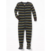 Striped Footed Sleeper for Toddler & Baby