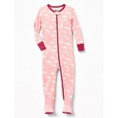 Dino-Print Footed Sleeper For Toddler & Baby