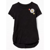 Graphic Tulip-Hem Tunic Tee for Girls