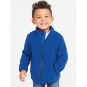 Mock-Neck Sherpa Zip Jacket for Toddler Boys