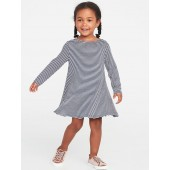 Cozy Stretch Swing Dress for Toddler Girls