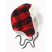 Patterned Sherpa-Trim Trapper Hat for Men