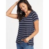 Maternity Plush-Knit Wrap-Front Nursing Top