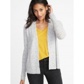Plush-Knit Open-Front Sweater for Women