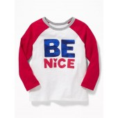 Valentine-Graphic Raglan Tee for Toddler Boys