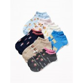 7-Pack Printed Ankle Socks for Women