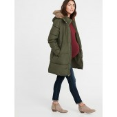 Maternity Long-Line Hooded Frost-Free Puffer Jacket