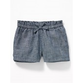 Chambray Pull-On Shorts for Baby