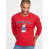 Graphic Thermal-Knit Tee for Men