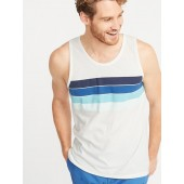 Soft-Washed Chest-Stripe Tank for Men