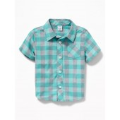 Patterned Poplin Shirt for Baby