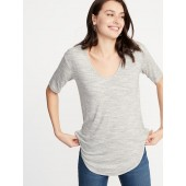 Luxe Curved-Hem Tunic for Women