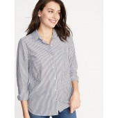 Classic Button-Front Shirt for Women