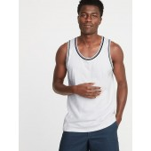 Soft-Washed Tipped Jersey Tank for Men