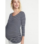 Maternity Fitted Ballet-Neck Top