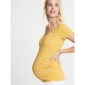 Maternity Fitted V-Neck Tee