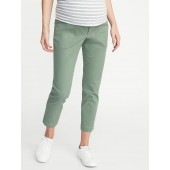 Maternity Full Panel Utility Pixie Ankle Chinos