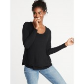 Maternity Double-Layer Nursing Tee