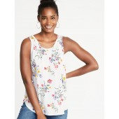 Luxe Floral-Print Swing Tank for Women