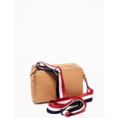 Faux-Leather Wide-Strap Camera Bag for Women