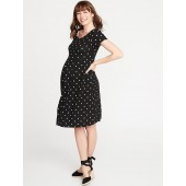 Maternity Fit & Flare Ponte-Knit Dress