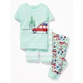 Camping-Graphic 3-Piece Sleep Set for Toddler & Baby
