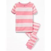 Rugby Stripe Sleep Set for Toddler Girls