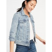 Distressed Denim Jacket for Women