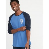 Graphic Soft-Washed 3/4-Sleeve Tee for Men