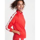 Sleeve-Stripe Track Jacket for Women