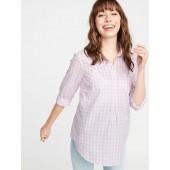 Maternity Gingham Popover Shirt