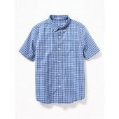 Plaid Built-In Flex Shirt for Boys
