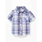 Patterned Poplin Shirts for Baby