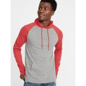 Soft-Washed Color-Blocked Tee Hoodie for Men